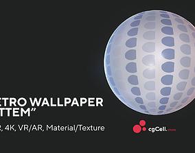 3D model Retro wallpaper Attem Substance Designer Material