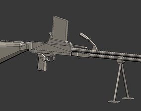 Manual machine gun 3D model