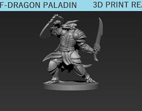 Half-Dragon Paladin mini 3D printable model