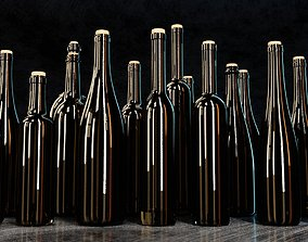 kitchen Wine Bottles 3D