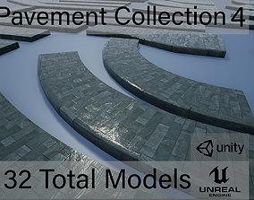 3D model Lowpoly Modular PBR Pavements 4
