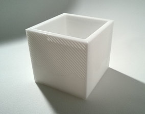 003g - Planter - Small Cuboid With 3D printable model 1