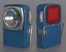 3D Vintage Flashlight