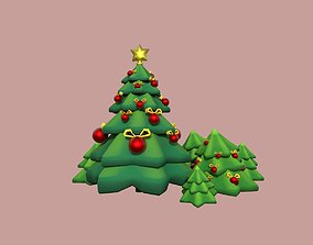 christmas tree 3D model game-ready conifer