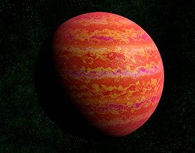 3D asset Red gas giant 2