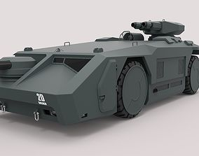 3D model Armored personnel carrier M577 from the movie