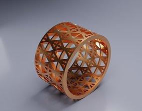 Openwork golden ring 3D print model