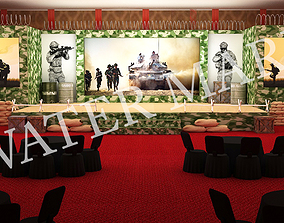 Army stage event 3D model
