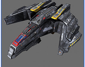 SciFi Army Human SpaceShips 01 3D model