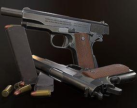 3D model VR / AR ready PBR Colt 1911