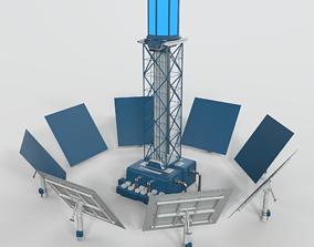 Solar Tower 3D model tower
