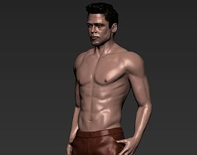 Tyler Durden Brad Pitt Fight Club for full color 3D