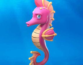 3D model Cartoon Seahorse