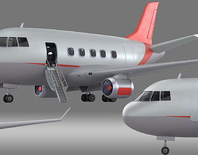 3D model cartoon aircraft airliner Airplane Cockpit 2