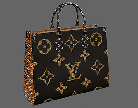 3D Louis Vuitton Onthego Giant Monogram Black and 1