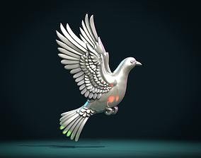Pigeon bas-relief 3D printable model
