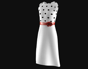 3D 1950s Dress
