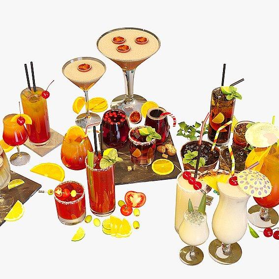 Cocktail Liquid & Glass Set