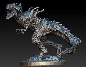 XenoRex xenomorph alien statue with base 3D model