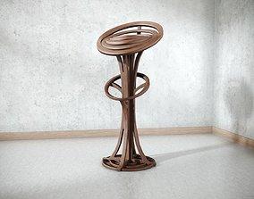 3D asset Modern Wooden Chair