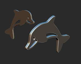 dolphin 3d model shape
