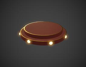 Red Circle Stage Platform 3D model