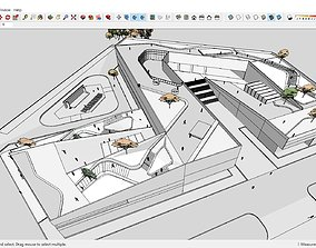 3D Sketchup Cultural center H1