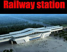 Railway station petersburg 3D