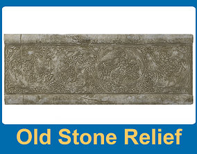 3D asset Old stone relief