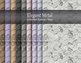 3D model Elegant Metal Seamless Textures Set