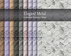3D model Elegant Metal Seamless Textures Set