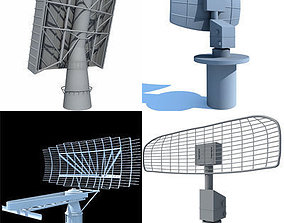 space Set of 4 Radars 3D Models