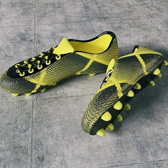 Render football boots