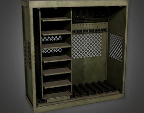 Military Barracks Gun Rack 01 - MLT - PBR Game 3D asset