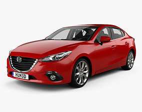 3D Mazda 3 sedan with HQ interior 2013