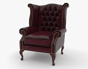 3D Wingback Chair