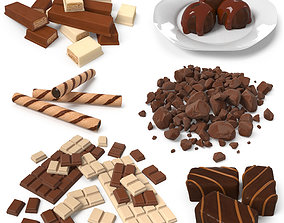 3D asset low-poly Chocolate Collection