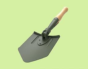 Army Spade 3D model