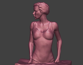 3D print model A Girl in the Pool