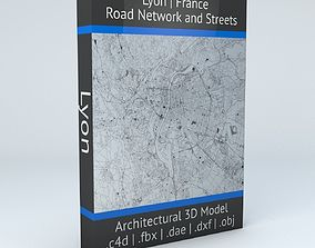 Lyon Road Network and Streets 3D