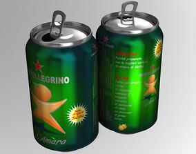 3D Italian Beverage Can
