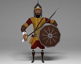 3D asset Low Poly Seljuk Turkish Warrior