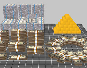 3D asset Bank Cash Pack
