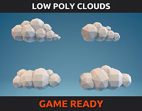 Low Poly Clouds Part 01 3D model