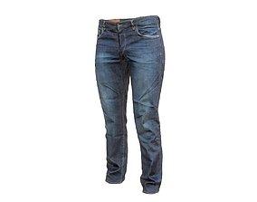 Dark blue jeans trousers 3D model hot