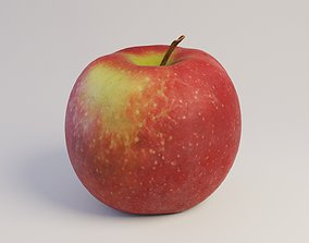 3D asset low-poly Apple Jonagold Scan