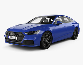 3D model Audi A7 Sportback S-line with HQ interior 2018
