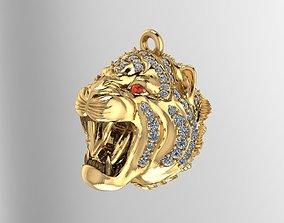 Gold Tiger Pendant 3D print model