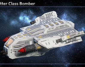 3D asset Spaceship Bombers Gunships
