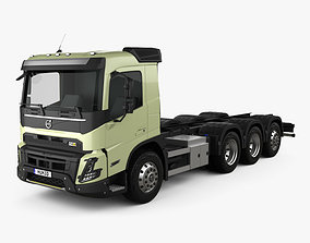 3D model Volvo FMX Day Cab Chassis Truck 4-axle 2020